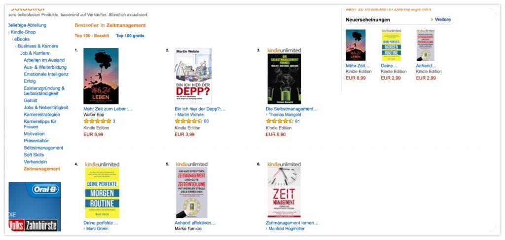 Mehr Zeit zum Leben von Walter Epp - Amazon Bestseller