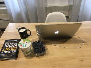 Morgenroutine: Mein Arbeitsplatz als Autor